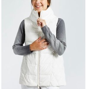 Jarbo Zentner high low white goose down vest